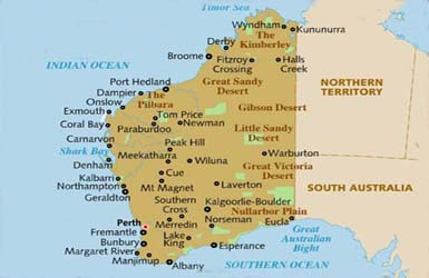 Cities in wa australia
