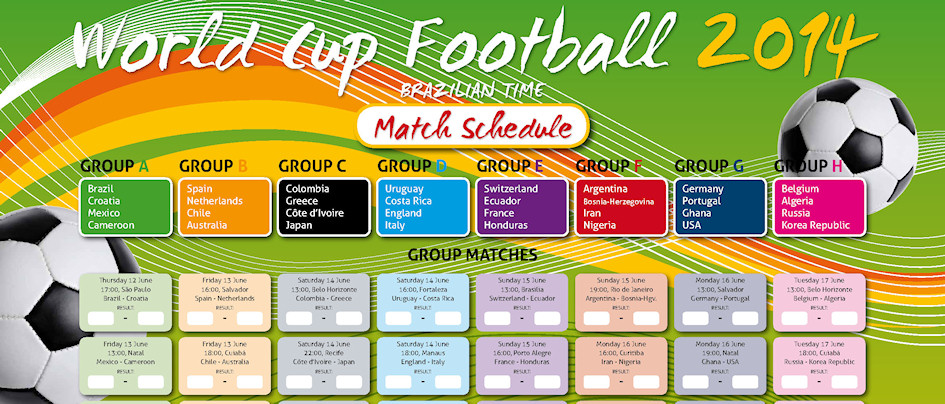 FIFA World Cup Schedule