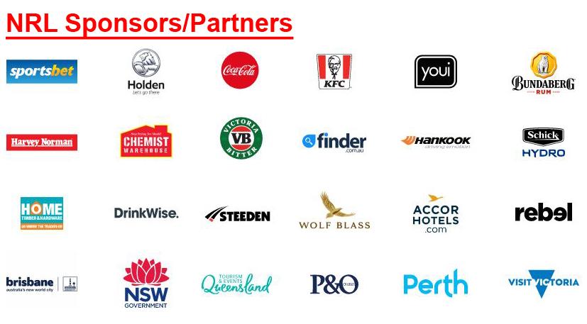 NRL Sponsors 2019